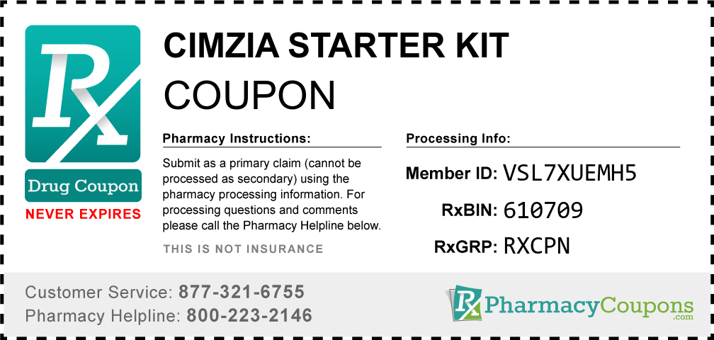 Cimzia starter kit Prescription Drug Coupon with Pharmacy Savings