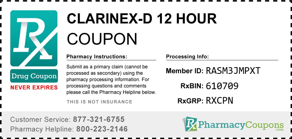Clarinex-d 12 hour Prescription Drug Coupon with Pharmacy Savings