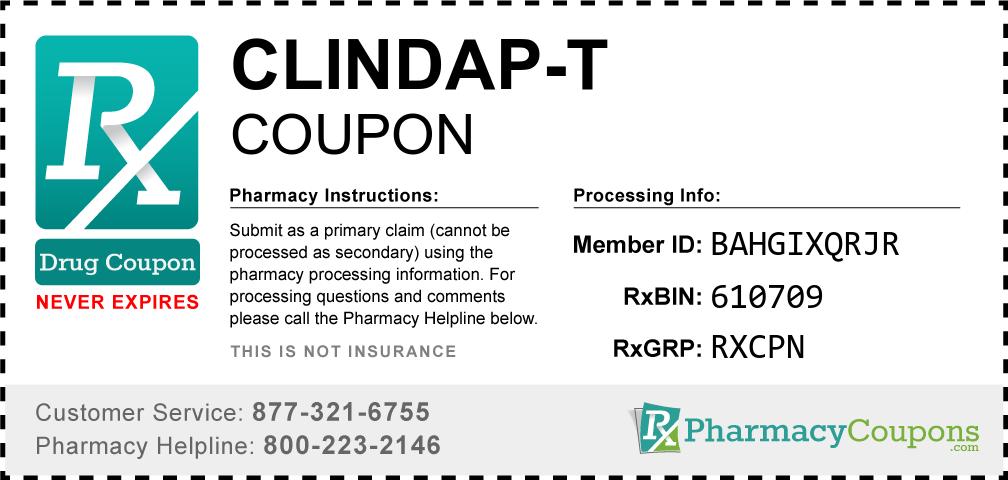 Clindap-t Prescription Drug Coupon with Pharmacy Savings