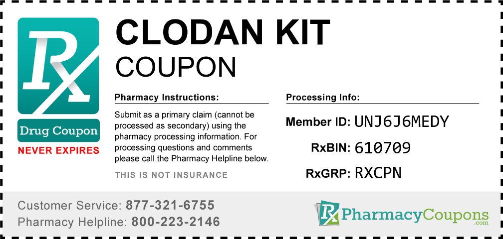 Clodan kit Prescription Drug Coupon with Pharmacy Savings
