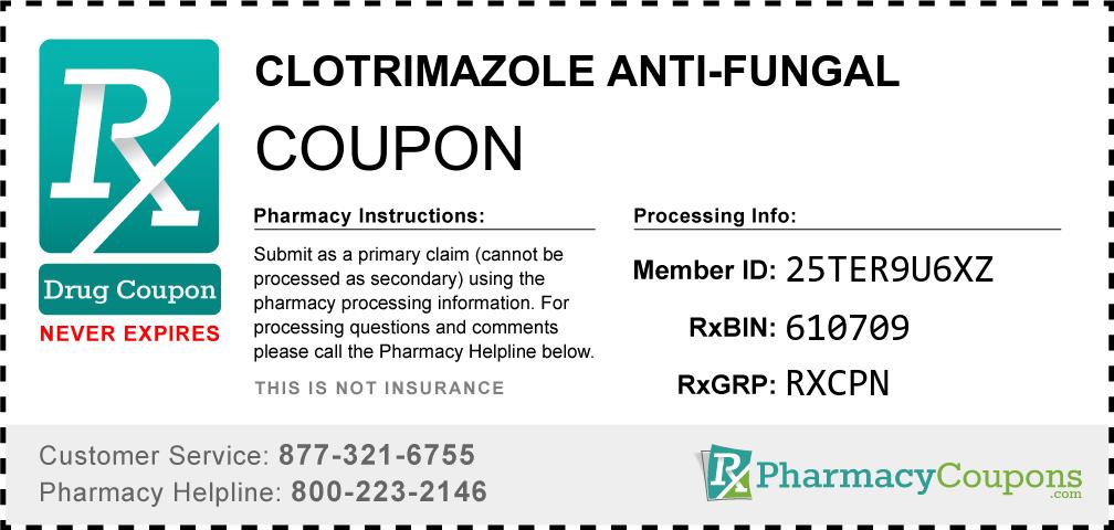 Clotrimazole anti-fungal Prescription Drug Coupon with Pharmacy Savings