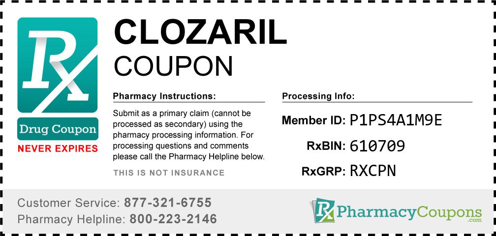 Clozaril Prescription Drug Coupon with Pharmacy Savings