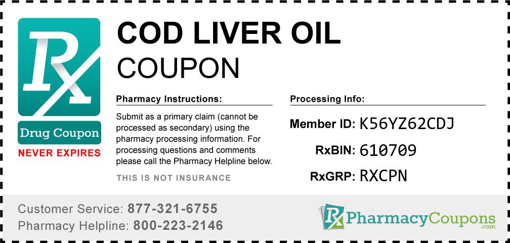 Cod liver oil Prescription Drug Coupon with Pharmacy Savings
