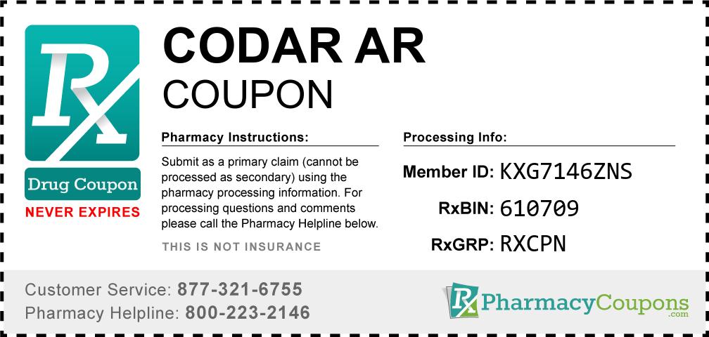Codar ar Prescription Drug Coupon with Pharmacy Savings