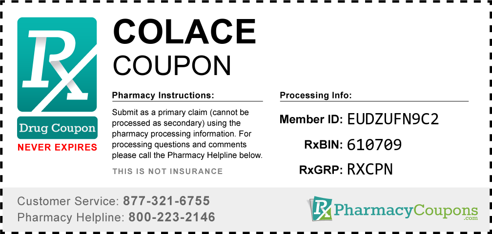Colace Prescription Drug Coupon with Pharmacy Savings