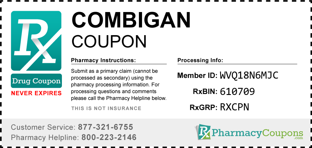 Combigan Prescription Drug Coupon with Pharmacy Savings