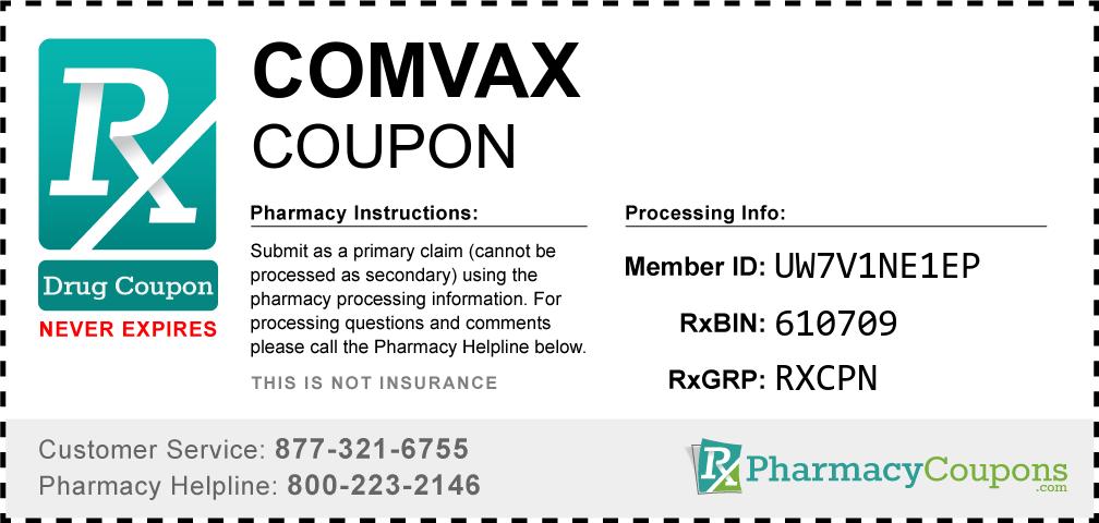 Comvax Prescription Drug Coupon with Pharmacy Savings