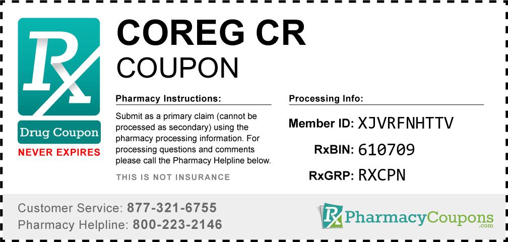 Coreg cr Prescription Drug Coupon with Pharmacy Savings