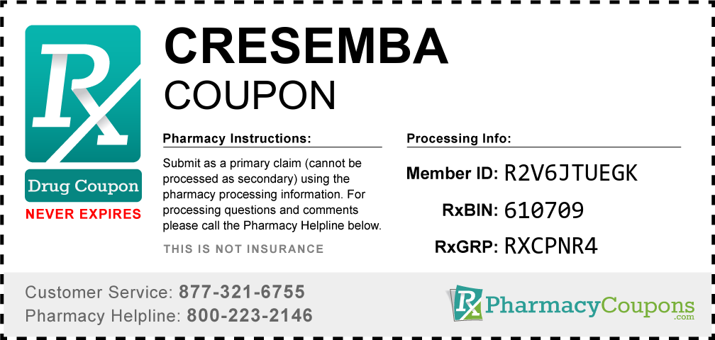 Cresemba Prescription Drug Coupon with Pharmacy Savings