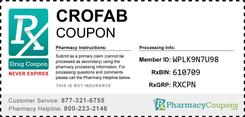 Crofab Prescription Drug Coupon with Pharmacy Savings