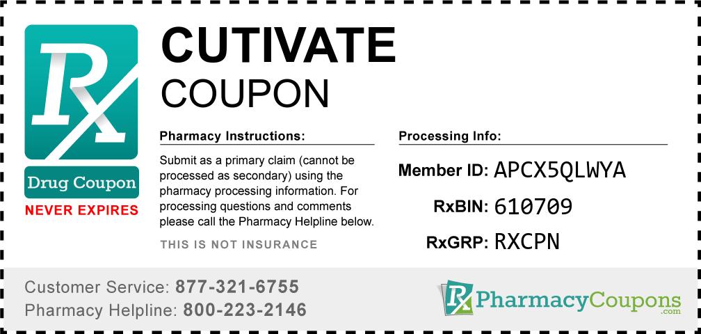 Cutivate Prescription Drug Coupon with Pharmacy Savings