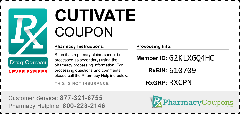 Cutivate Prescription Drug Coupon with Pharmacy Savings