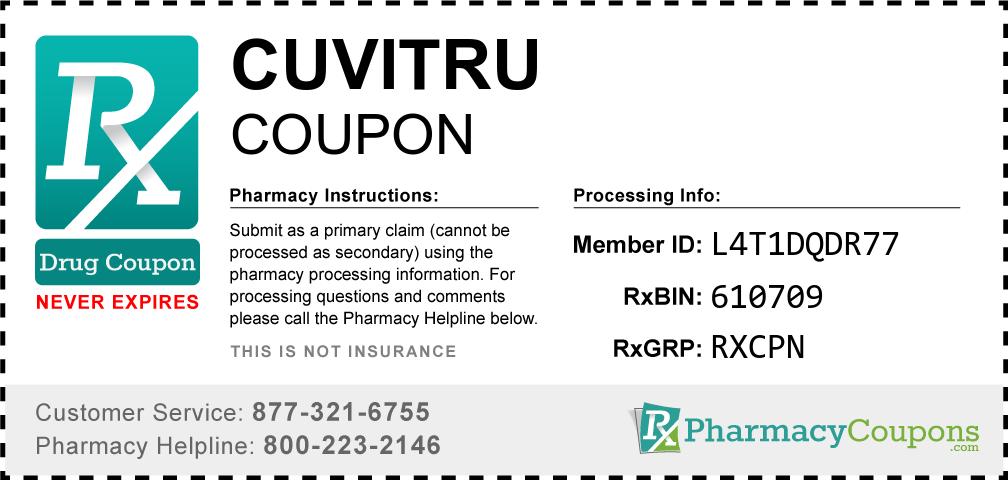 Cuvitru Prescription Drug Coupon with Pharmacy Savings