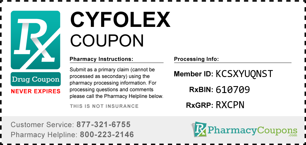 Cyfolex Prescription Drug Coupon with Pharmacy Savings
