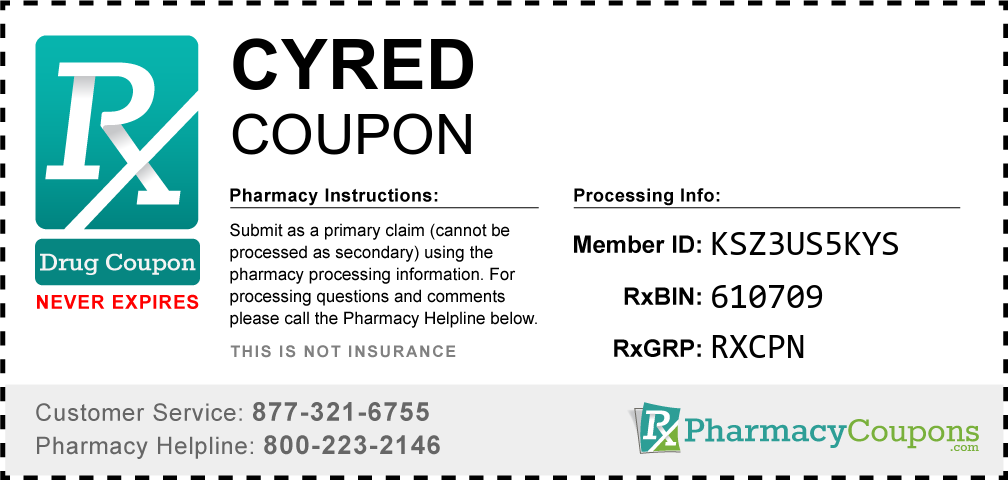 Cyred Prescription Drug Coupon with Pharmacy Savings