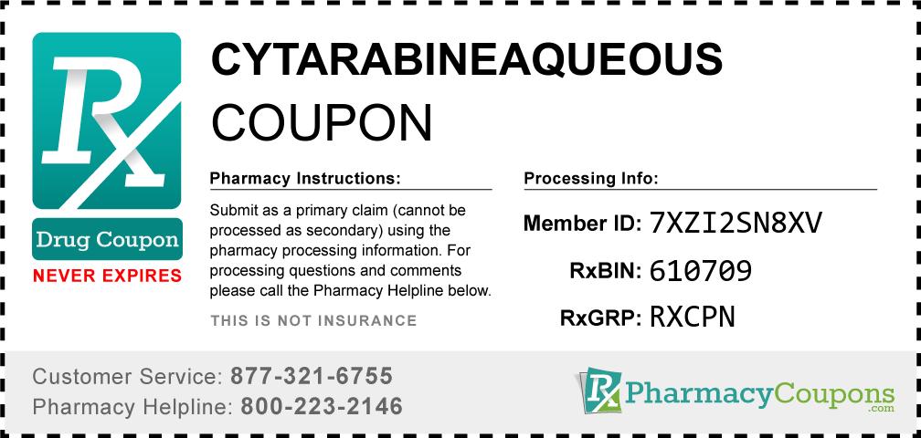 Cytarabineaqueous Prescription Drug Coupon with Pharmacy Savings