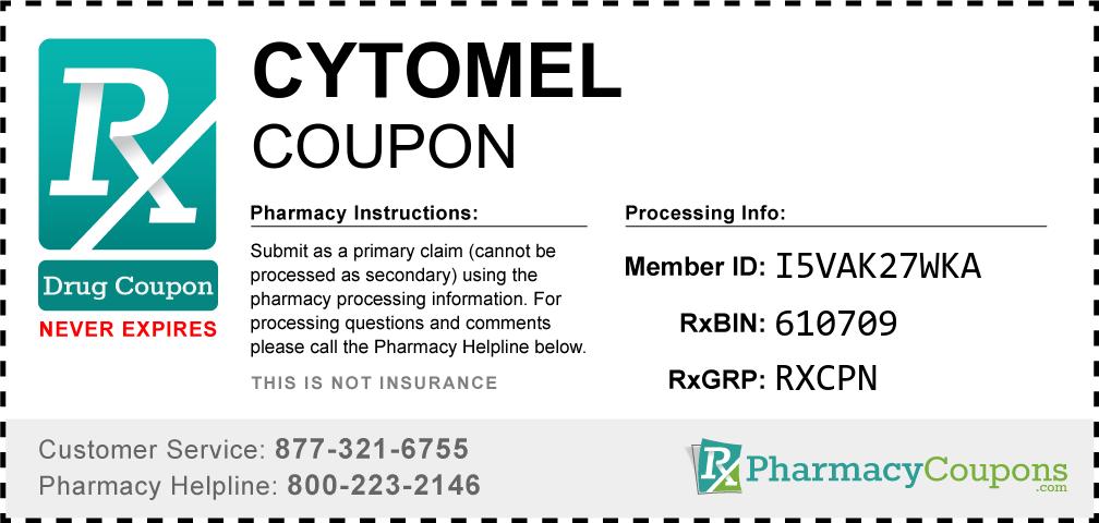 Cytomel Prescription Drug Coupon with Pharmacy Savings
