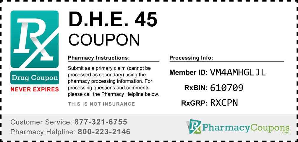 D.h.e. 45 Prescription Drug Coupon with Pharmacy Savings