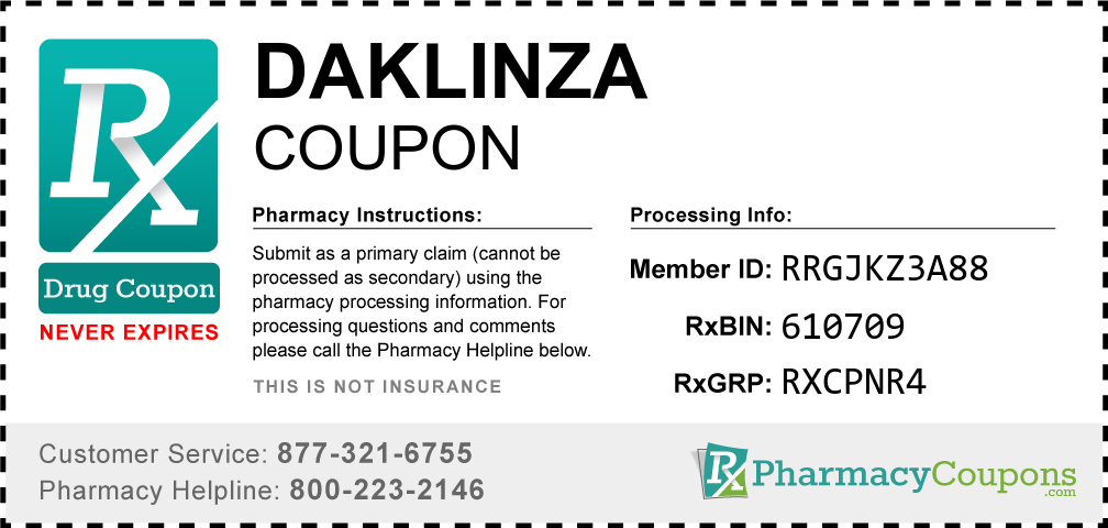 Daklinza Prescription Drug Coupon with Pharmacy Savings