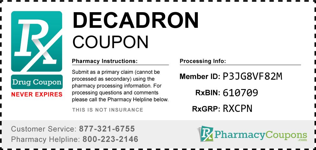 Decadron Prescription Drug Coupon with Pharmacy Savings