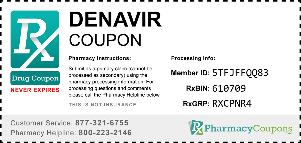 Denavir Prescription Drug Coupon with Pharmacy Savings