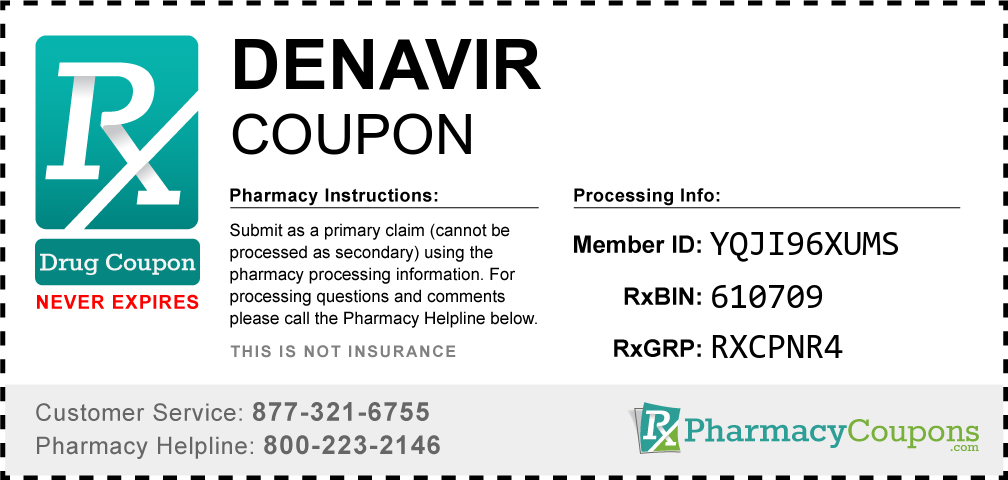Denavir Prescription Drug Coupon with Pharmacy Savings
