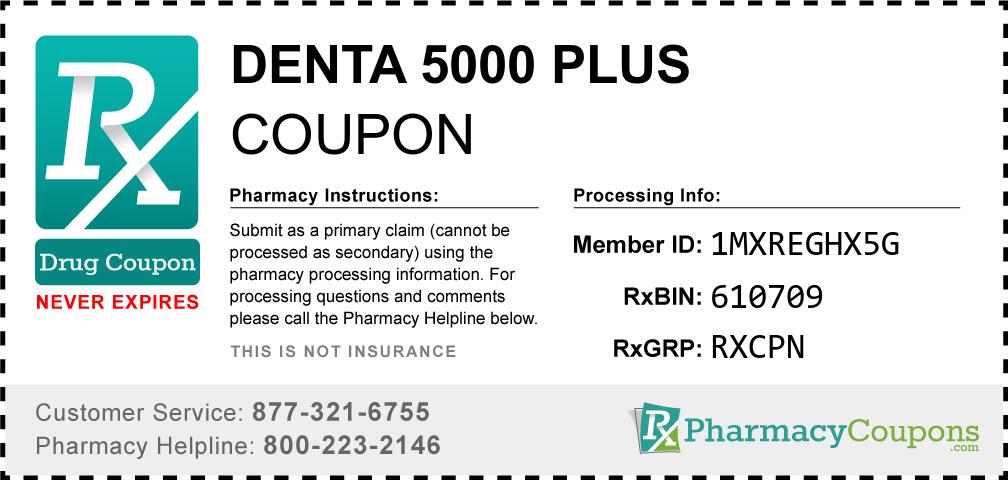 Denta 5000 plus Prescription Drug Coupon with Pharmacy Savings