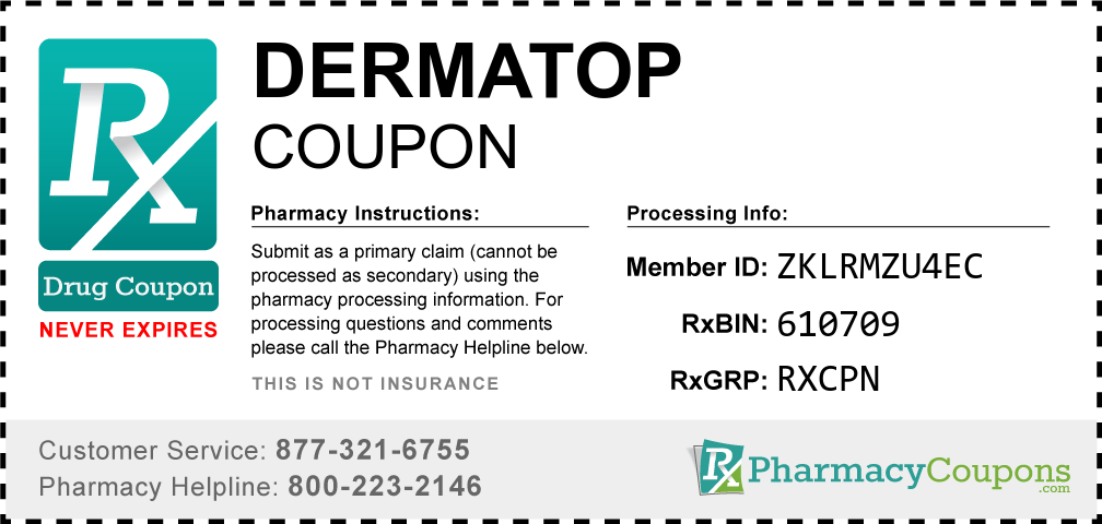 Dermatop Prescription Drug Coupon with Pharmacy Savings