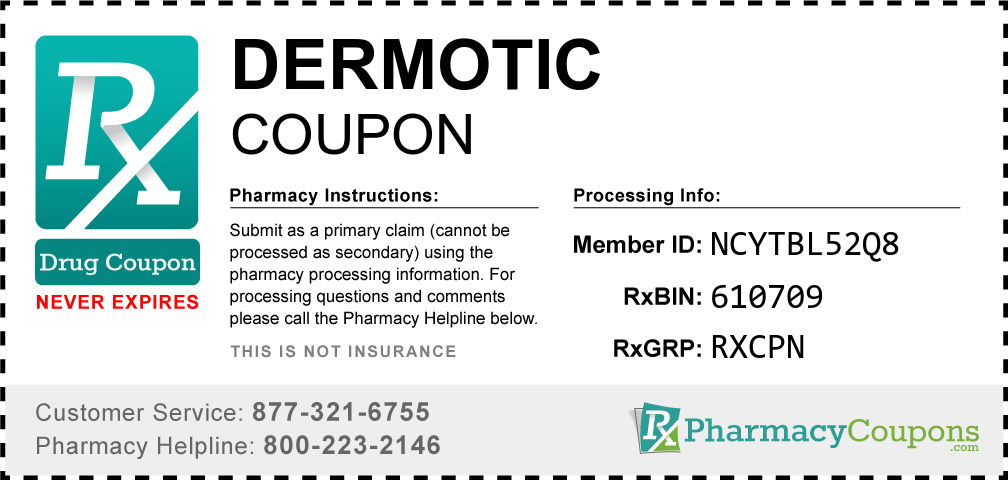 Dermotic Prescription Drug Coupon with Pharmacy Savings