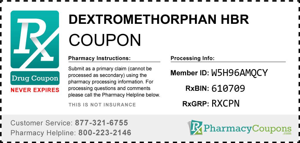 Dextromethorphan hbr Prescription Drug Coupon with Pharmacy Savings