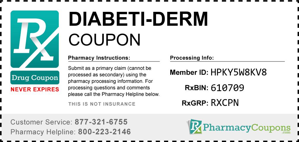 Diabeti-derm Prescription Drug Coupon with Pharmacy Savings