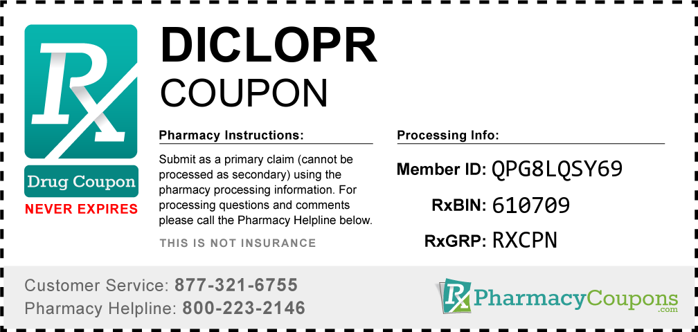 Diclopr Prescription Drug Coupon with Pharmacy Savings