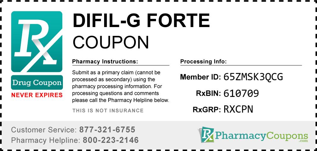 Difil-g forte Prescription Drug Coupon with Pharmacy Savings
