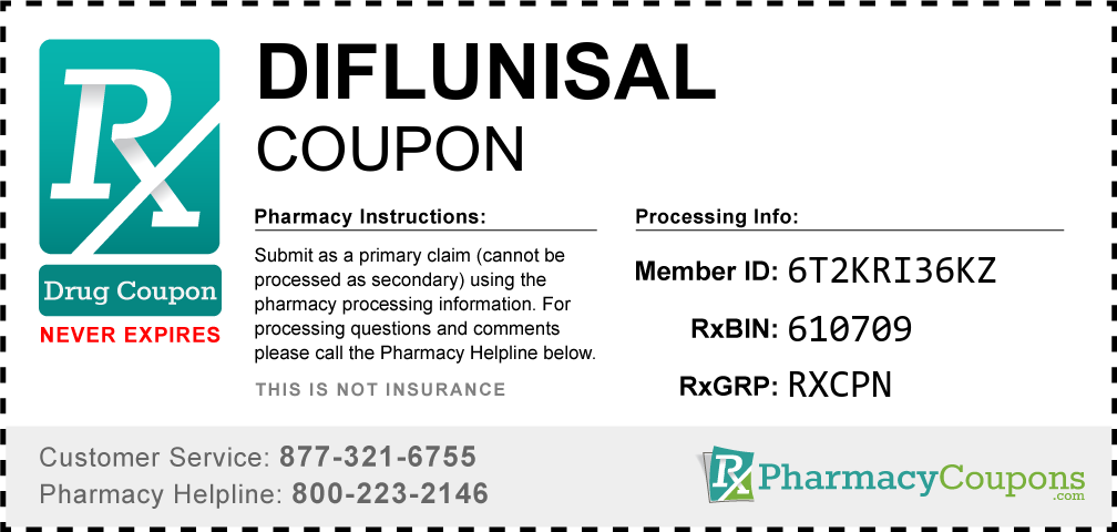 Diflunisal Prescription Drug Coupon with Pharmacy Savings
