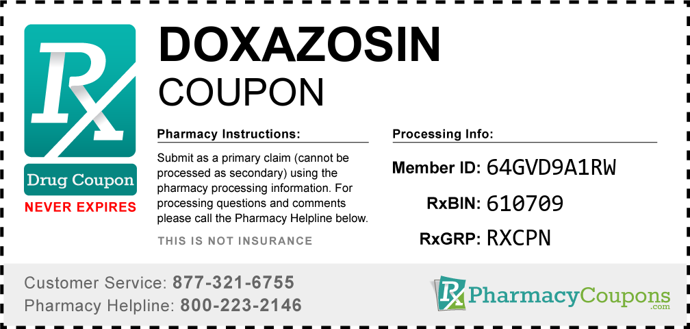 Doxazosin Prescription Drug Coupon with Pharmacy Savings
