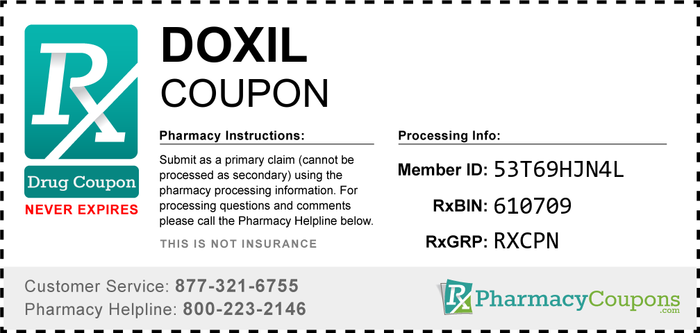 Doxil Prescription Drug Coupon with Pharmacy Savings