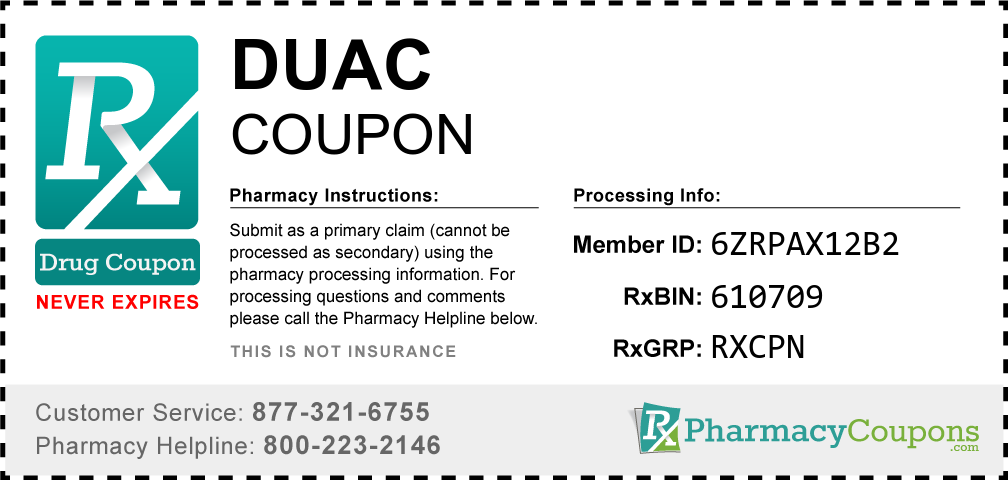 Duac Prescription Drug Coupon with Pharmacy Savings