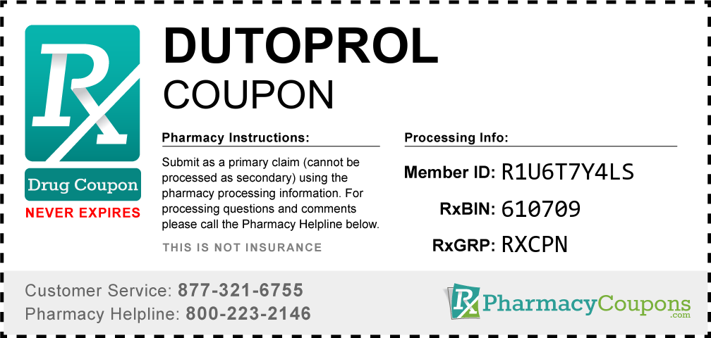 Dutoprol Prescription Drug Coupon with Pharmacy Savings