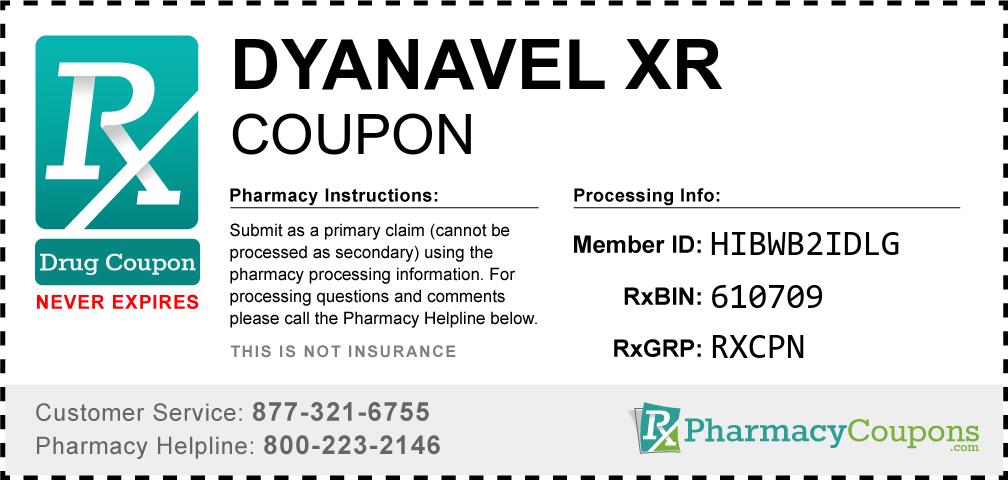 Dyanavel xr Prescription Drug Coupon with Pharmacy Savings