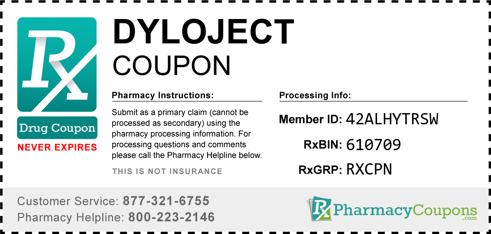 Dyloject Prescription Drug Coupon with Pharmacy Savings