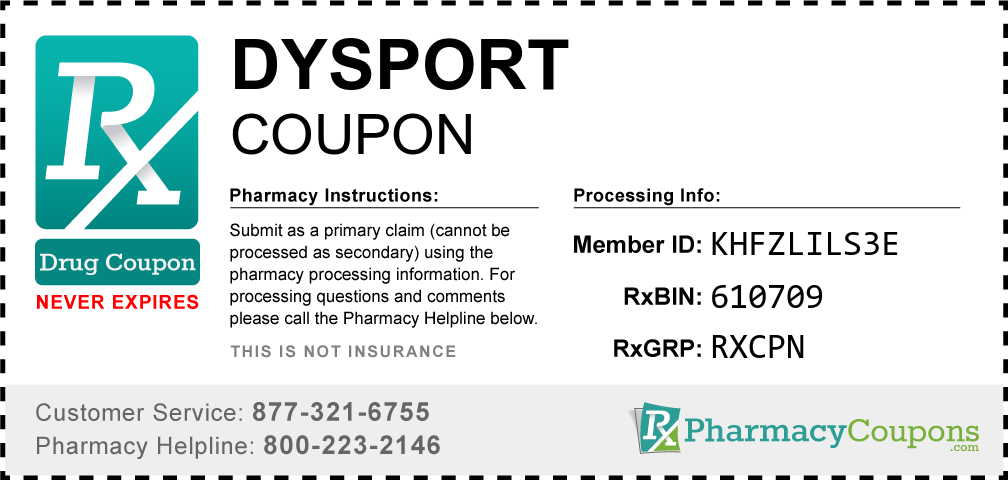 Dysport Prescription Drug Coupon with Pharmacy Savings