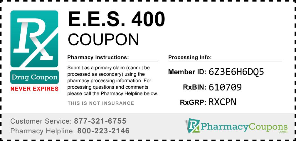 E.e.s. 400 Prescription Drug Coupon with Pharmacy Savings