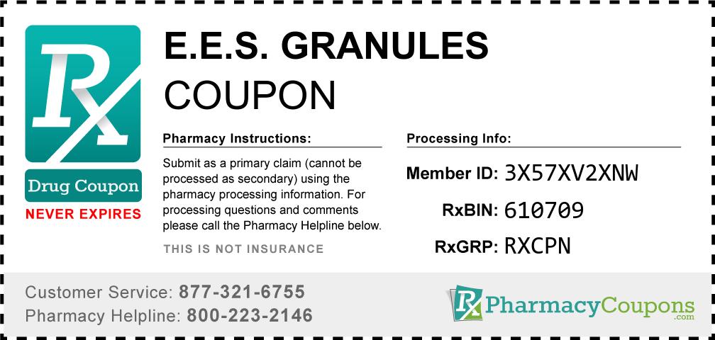E.e.s. granules Prescription Drug Coupon with Pharmacy Savings