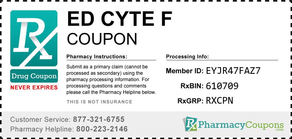 Ed cyte f Prescription Drug Coupon with Pharmacy Savings