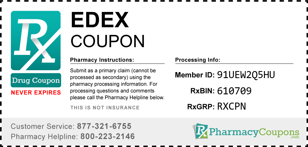 Edex Prescription Drug Coupon with Pharmacy Savings