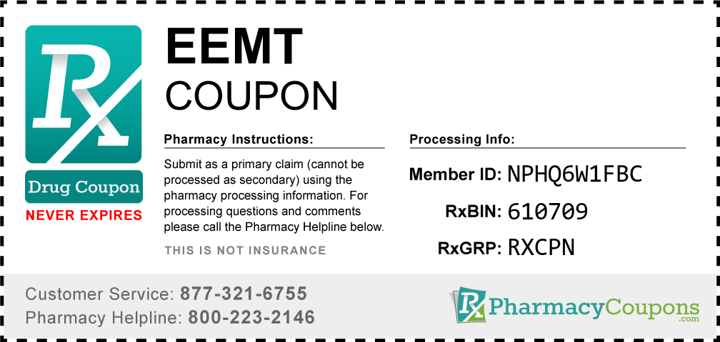 Eemt Prescription Drug Coupon with Pharmacy Savings