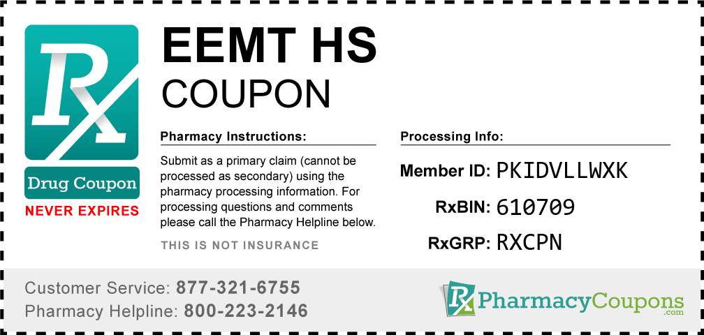 Eemt hs Prescription Drug Coupon with Pharmacy Savings