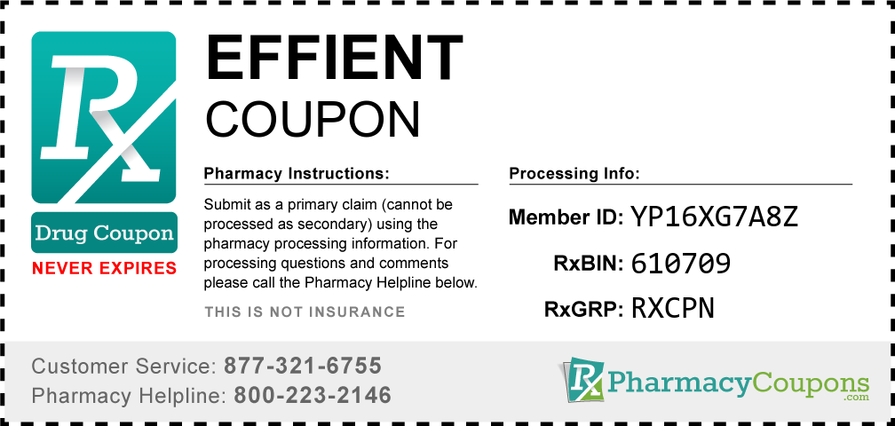 Effient Prescription Drug Coupon with Pharmacy Savings