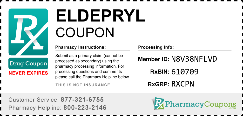Eldepryl Prescription Drug Coupon with Pharmacy Savings