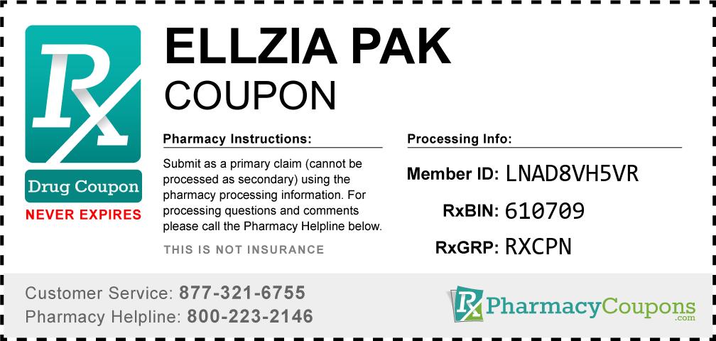 Ellzia pak Prescription Drug Coupon with Pharmacy Savings